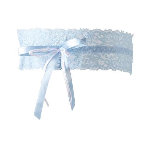 Lichtblauwe kousenband
