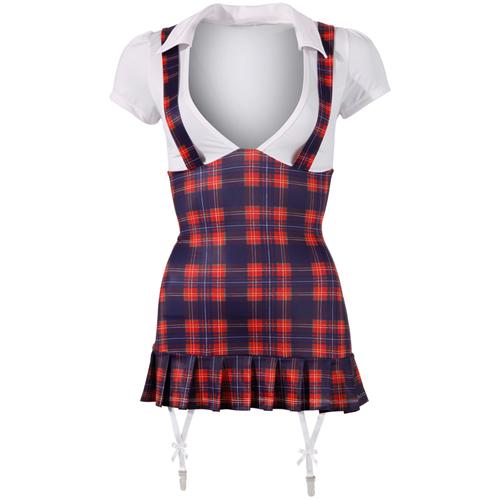 Sexy schoolmeisje kostuum – Blauw/Rood/Wit Blauw – Cottelli Collection