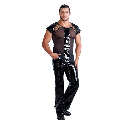 Zwart Herenshirt Van Lak