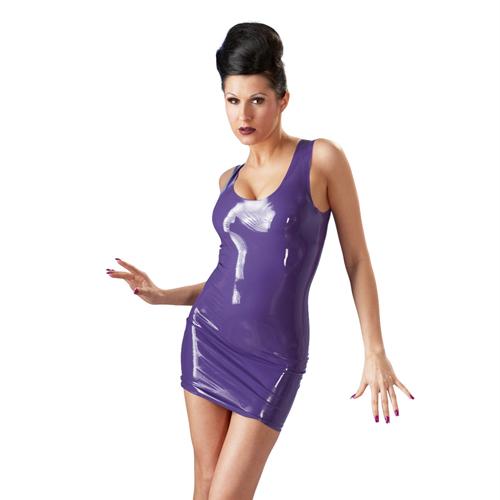 Latex jurkje mini in een paarse kleur