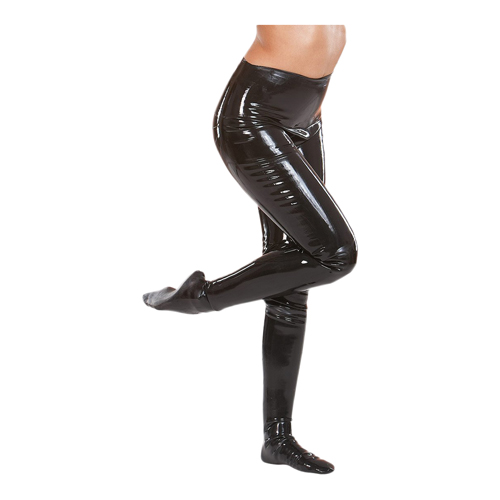 Latex legging in het zwart