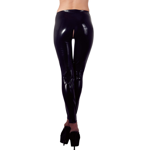 Latex Legging Met Open Kruis
