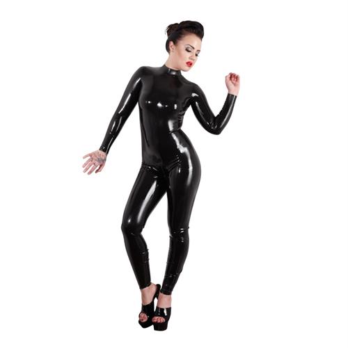 Latex Catsuit - zwart