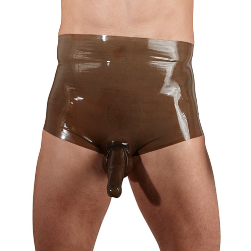Hoge Latex Slip Met Sleeve – Bruin Bruin – The Latex Collection
