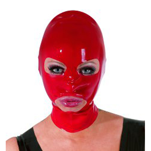 Latex Hoofdmasker – Rood Rood – The Latex Collection