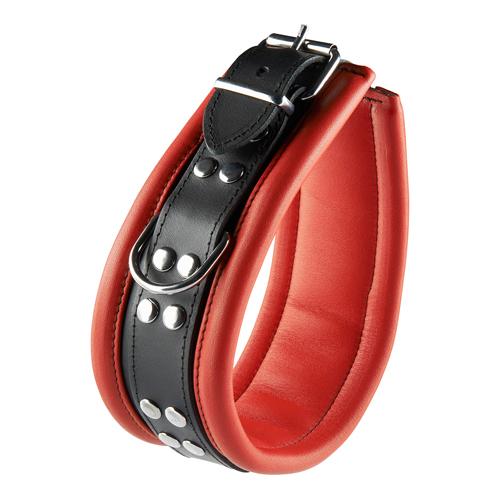 Spannende rood zwarte halsband