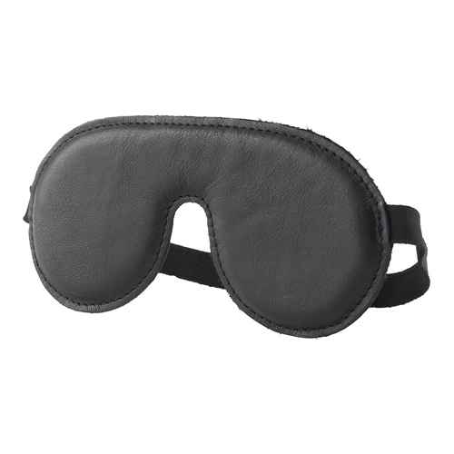 Zwart leren oogmasker