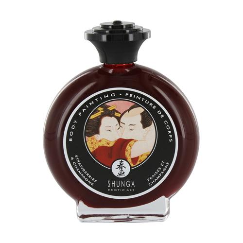 Shunga – Aardbeien & Champagne Bodypainting Rood – Shunga