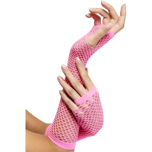 Roze visnet handschoenen