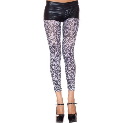 Legging Met Luipaardprint – Grijs – Music Legs