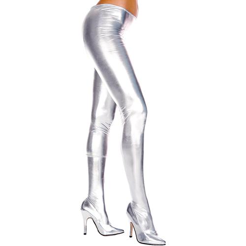 Wetlook Metallic Panty – Zilver Zilver – Music Legs