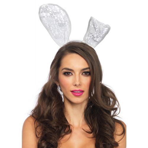 Kanten Bunny Oortjes - Wit