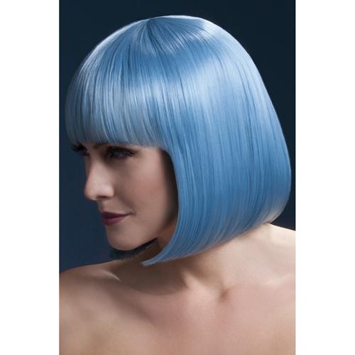 Korte Stijle Pruik - Pastelblauw