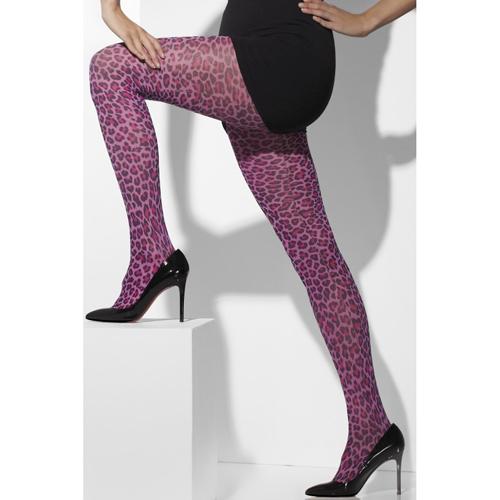 Roze Panty - Luipaard Print