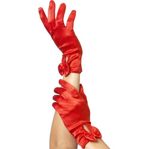 Rode Handschoenen Met Strik Rood – Fever