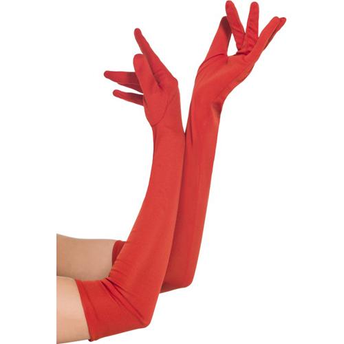 Lange rode handschoenen