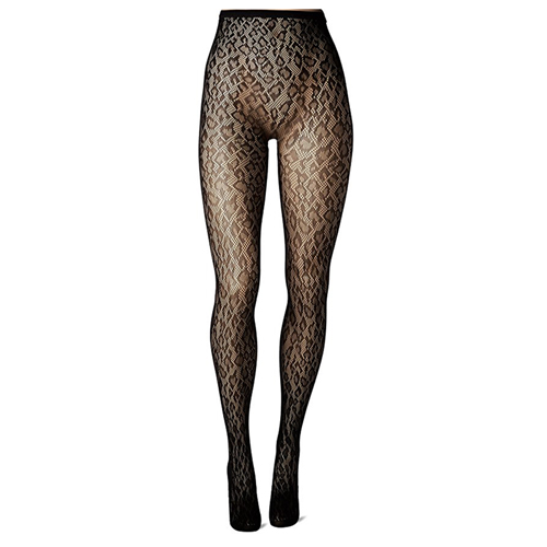 Panty Met Luipaardprint – Zwart Zwart – Music Legs