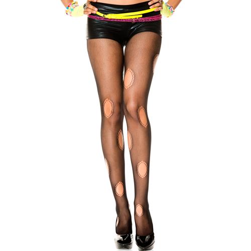 Panty Met Ronde Uitsnedes - Zwart