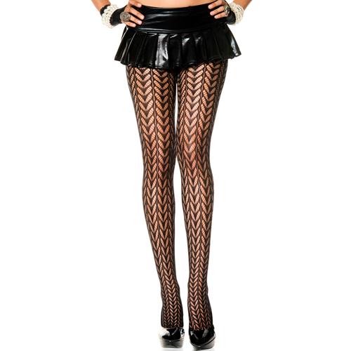 Panty Met Verendesign - Zwart