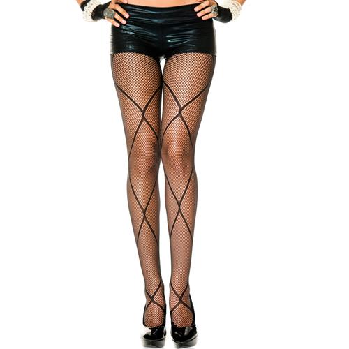 Visnet Panty - Zwart