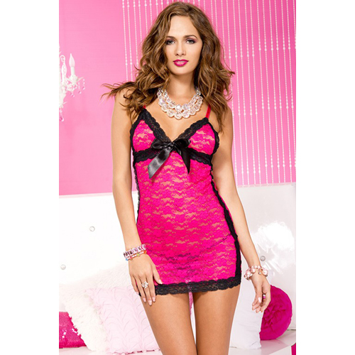 Roze kanten jurkje