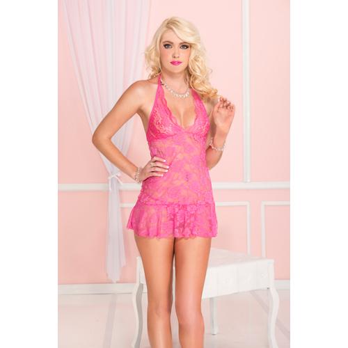 Kort Halterjurkje – Roze Roze – Music Legs
