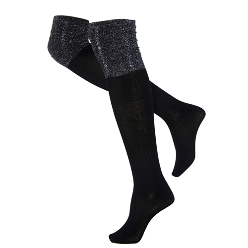 Cotton spandex knee socks