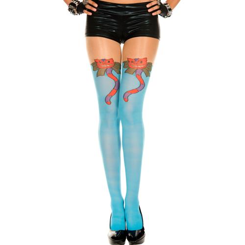 Panty Met Kattenprint - Blauw