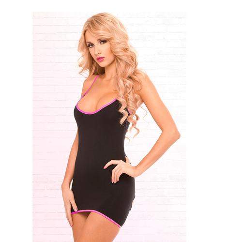 Zwart jurkje met openingen op de rug Zwart – Pink Lipstick Lingerie