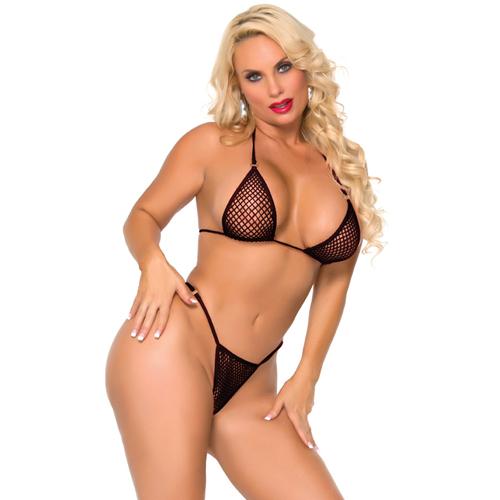 Netstof Bikini Van Cocolicious - Zwart