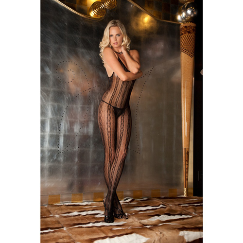 Seductive lace bodystocking