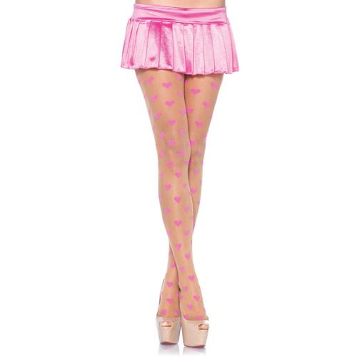 Transparante Panty met Roze hartjes