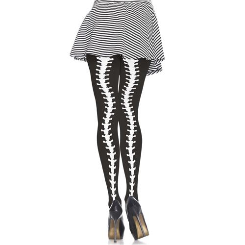Panty Met Ruggengraat Print - Zwart