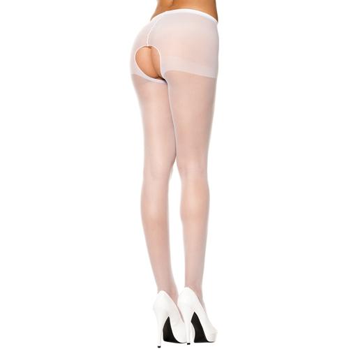 Klassieke Panty Met Open Kruis – Wit Wit – Music Legs