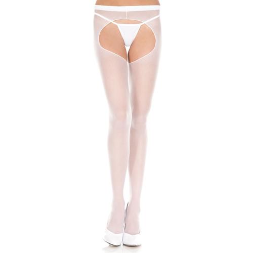Basic panty Met Open Kruis – Wit Wit – Music Legs
