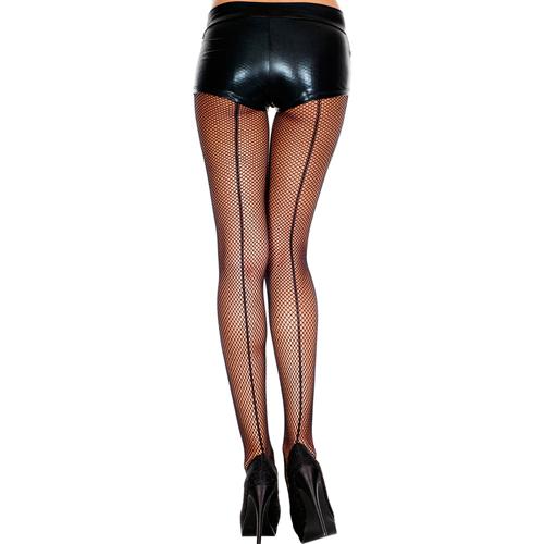 Visnetpanty Met Enkele En Dubbele Naad – Zwart Zwart – Music Legs