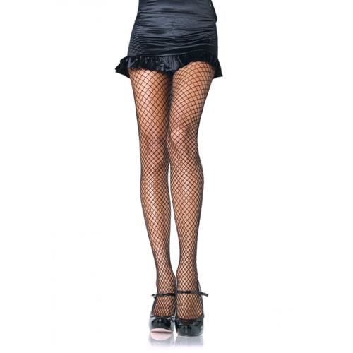 Zwarte visnet panty