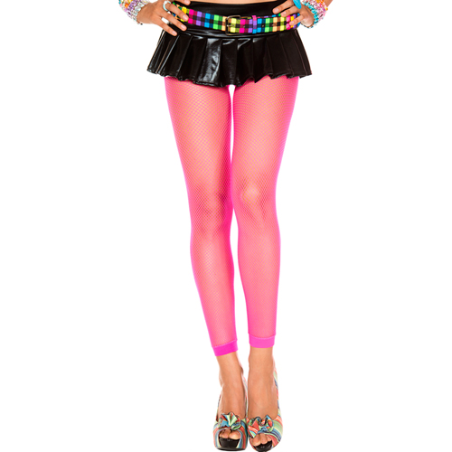 Lange Visnet Legging – Neon Roze Roze – Music Legs