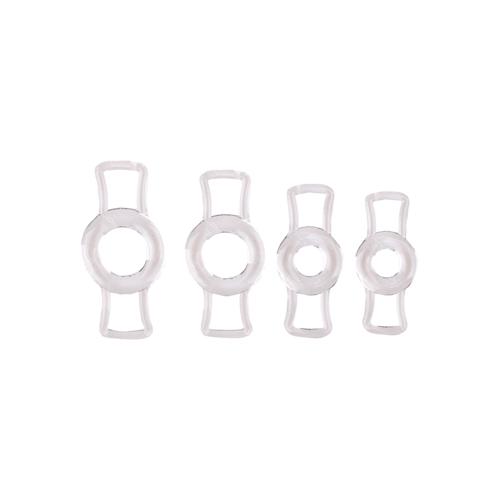 Set van vier penisringen – Transparant Transparant – Size Matters