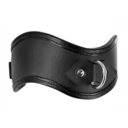 Straight Up - gevoerde halsband met slot