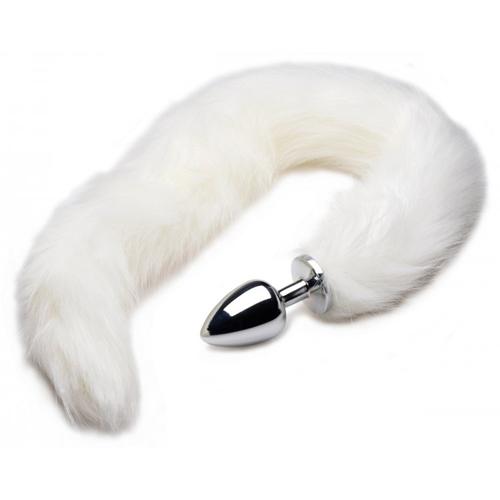 Arctic Mink Staart Buttplug Zilver – Tailz