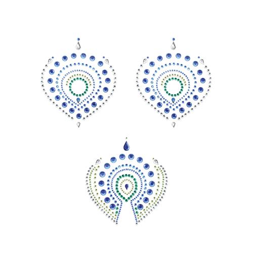 Flamboyant Body Stickers – Groen/Blauw Blauw – Bijoux Indiscrets
