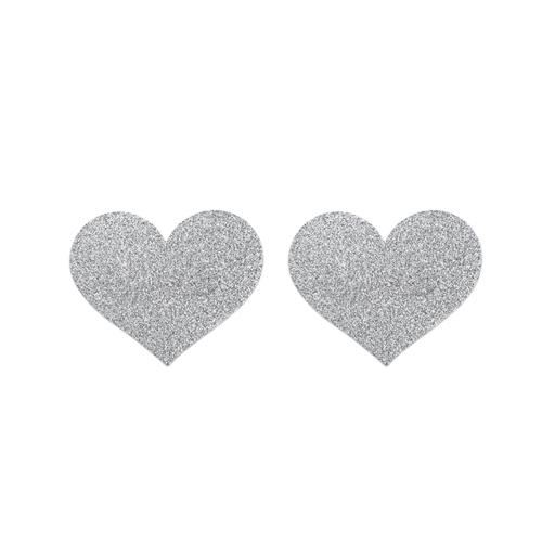 Flash Heart Tepelstickers – Zilver Zilver – Bijoux Indiscrets