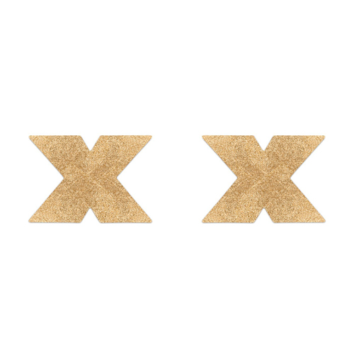 Flash Cross Tepelstickers – Goud Goud – Bijoux Indiscrets