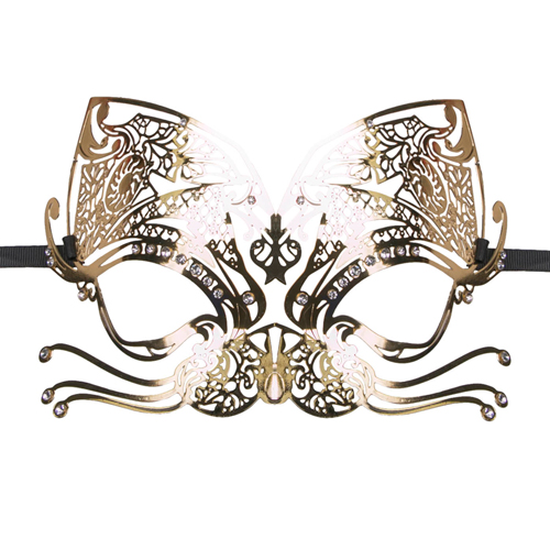Met dit prachtige opengewerkte venetiaanse masker van easytoys maak je een verpletterende indruk. het masker ...