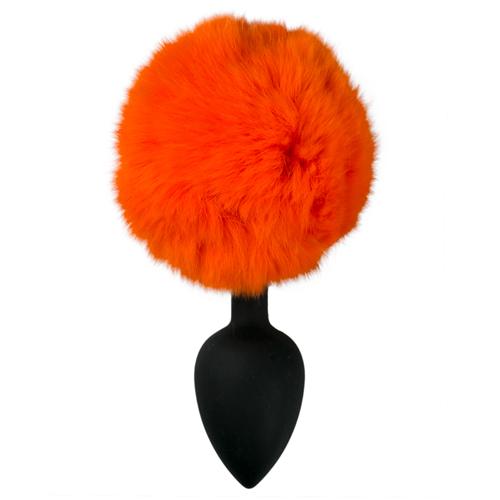 Siliconen Buttplug Met Oranje Konijnenstaart Oranje – EasyToys Online Only