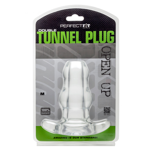 Double Tunnel Plug - Transparant