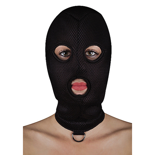 Extreem BDSM masker van netstof met D-ring
