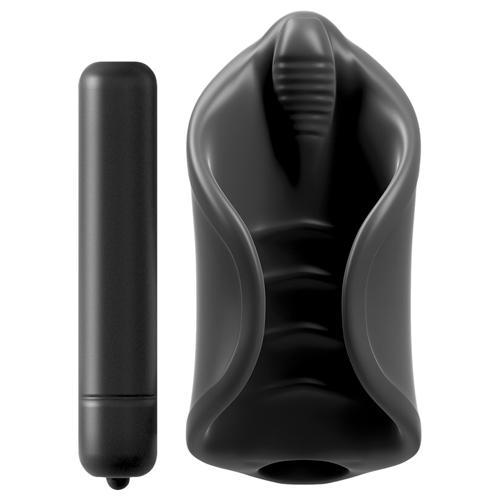 Vibrerende Siliconen Masturbator Set Zwart – Pipedream Extreme