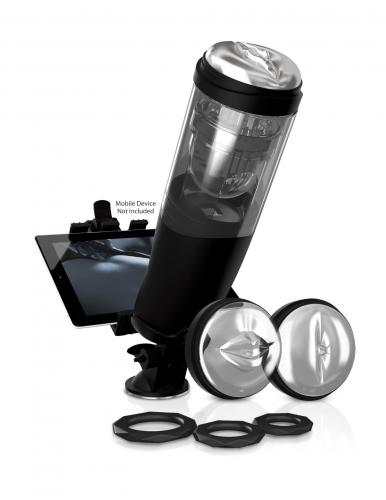 PDX Elite Deluxe Mega-Bator – Automatische Masturbator Zwart – Pipedream Extreme